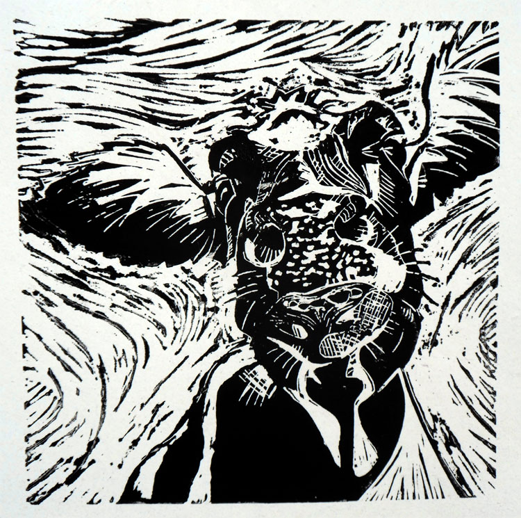 The animal world in linoprints