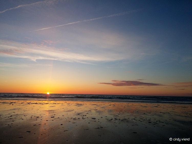 sunset zandvoort Netherlands